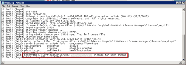 Reserving SolidWorks Network Licenses | The SolidApps Blog
